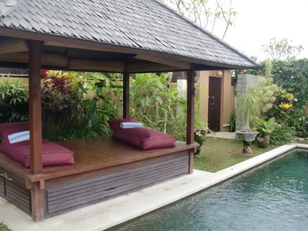 Pool-side gazebo