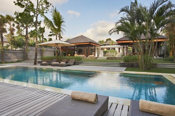 Villa view from the pool